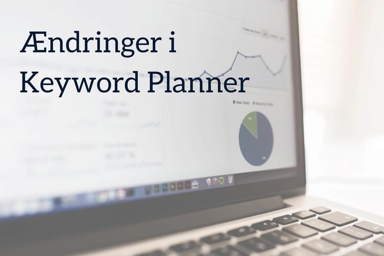 Ændringer iKeyword Planner